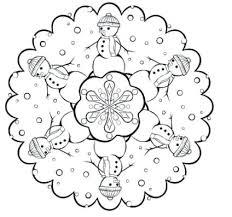 Lovely Snowflake Mandala Coloring Pages For Snowflake Mandala