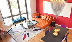 awesome bright solid colored area rugs orange leather sectional sofa blue leather sofa bench brown wood