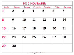 Free Printable November 2015 Calendar Aaron The Artist