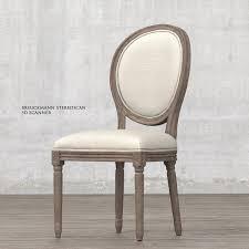 Restoration Hardware Vintage French Round Fabric Side Chair Restoration Hardware Vintage French Round Dining Chair