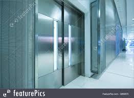 office corridor door glass. Interior Architecture: Big Steel Door In Office Building With Long Corridor . Glass V