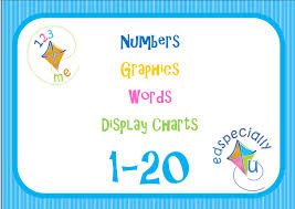 ed specially u numbers graphics and words ed specially u number cards numeral graphic written word flashcards title page