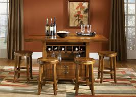 Pub Casual Dining 5 Piece Center Island Table Set in Oak Finish by Liberty  Furniture  57PUB