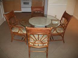 Incredible Beveled Round Glass Dining Table With Marble Base Be