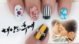 Descendants of the Sun Nail Art (태양의 후예) ♥ - YouTube