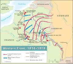 map illustrating major battles of wwi world war i wwi all quiet on the western front essay questions teaching le feu under fire by henri barbusse