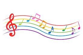 カラフルな波打つ楽譜の音符のフリーダウンロード画像 ii   音符 イラスト, 音符, 音楽 イラスト