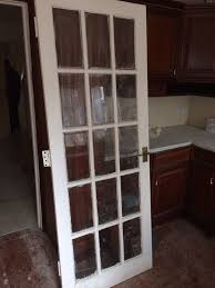 solid white clear glass glazed internal interior door 15