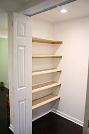 Building closet shelves Custom Closet Diy How To Build Inexpensive Shelves Using Mdf Wall Anchors And Lots Of Primer And Paint Shelves Were Added To This Walkin Closet For 20 Bower Pinterest Closet Organization Shelves Diy Storage Ideas Closet Shelves