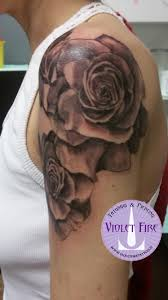 Tatuaggio Fiori Violet Fire Tattoo Tatuaggi Maranello