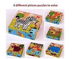 Buy Vibgyor Vibes Early Age 6 in 1 Wood <b>Block</b> Puzzles for Small ...
