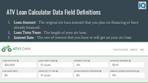 Mortgage Calculator With Extra Monthly And Yearly Payments Atv Loan Calculator Atv Payment Calculator
