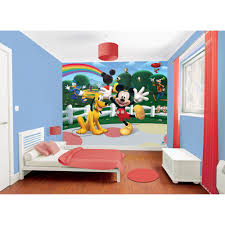 Mickey Mouse Clubhouse Bedroom Furniture Mickey Mouse Clubhouse Wallpaper By Walltastic Great