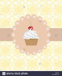 Cupcake Cherry Stock Vector Images Alamy