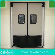 commercial impact traffic swinging door with glass window aste and repairs china