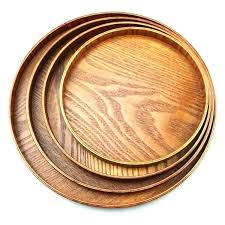 round serving trays with handles natural wood serving tray tea food server dishes platter round natural round serving trays
