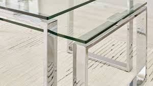 set of two modern glass coffee tables uk