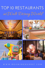 Top 10 Restaurants At Walt Disney World