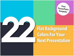 Ppt Template For Academic Presentation 22 Flat Background Colors For Your Presentation Free Powerpoint Temp