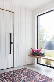 White vertical shiplap + white vertical tongue and groove + modern ...