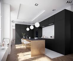 Kitchen:Monochromatic Kitchen Black Cabinetry Three White Chinese Lanterns  Black Kitchen Appliances Ideas Best Black