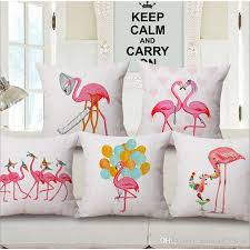 Small Picture Christmas Flamingo Sofa Cushion Covers Manufacturers Linen Cotton
