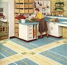 bakelite brand vinyl resins advertisement 1955 note the unique usage of battleship linoleum patterns