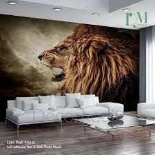 Lion Wall Mural, Wild lion e Self ...