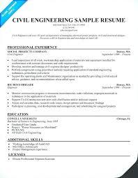 Civil Engineering Internship Resume Engineering Resume Template 20