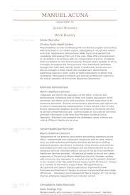 senior recruiter resume samples nurse recruiter resume