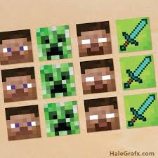 Free Printable Minecraft Cupcake Toppers Video Games Minecraft