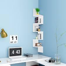 wall furniture shelves. 5-Tier-Wall-Mount-Corner-Shelf-Storage-Unit- Wall Furniture Shelves S