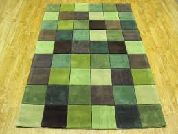 pixel light sage green rug