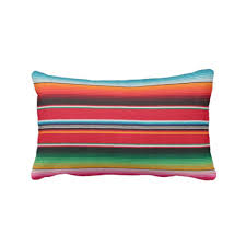 se stripe throw pillow cover printed mexican blanket 14 x 20 lumbar indoor or outdoor pillows covers rainbow colorful stripes striped