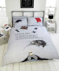 funquirkyduvet day this will make you smile what a life this is and fun duvet covers