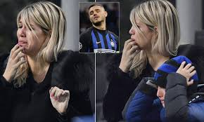 Mauro Icardi's wife Wanda Nara cries after watching Inter ...