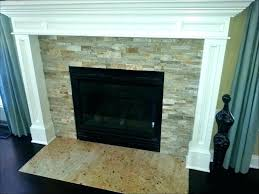 stacked stone tile fireplace pint ideas slate