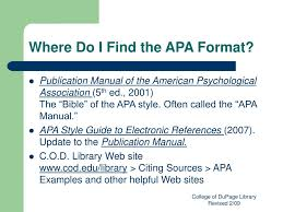 Ppt Apa Citation Style Powerpoint Presentation Id157392