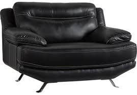 Black Leather Chair I67