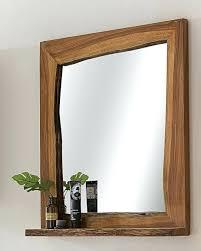 Badezimmerspiegel Bad Led Beleuchtung Mit Ablage Und Holz