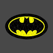 geometric batman symbol geometric batman symbol
