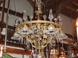 amazing brass and crystal chandelier