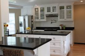 White Kitchen Cabinets With Black Countertops Lilimarsh Kitchens
