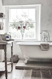 shabby chic bathroom bathroom. White Vintage Bathroom With Claw Foot Tub Shabby Chic