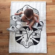Wee Gallery Blankets and Pillows Â« buymodernbaby.com & wee gallery black and white bear and tiger organic baby quilt Adamdwight.com