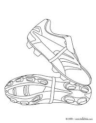 Soccer Shoes Coloring Page Foci Voetbal Sport En Kleurplaten