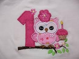 Owl Birthday Applique Design Free Embroidery Designs Cute Embroidery Designs