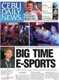 dota 2 front page on a local filipino newspaper dota2