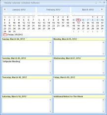 schedule weekly weekly calendar schedule software download