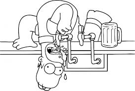 Homer Simpson Kleurplaat Dibujos De Homero Simpson Para Colorear En